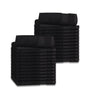 Image of 12 Premium Quality Washcloths (Black -13x13 inches ) 1.5 lb/dz - Maz Tex Supply