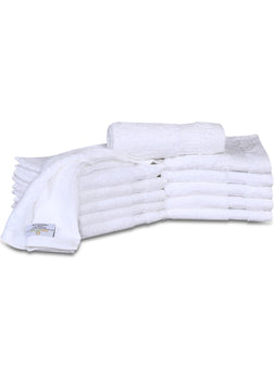 12 Premium Quality Washcloths (White -13x13 inches ) 1.5 lb/dz