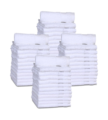 12 Premium Quality Washcloths (White -13x13 inches ) 1.5 lb/dz - Maz Tex Supply