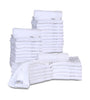 Image of 12 Premium Quality Washcloths (White -13x13 inches ) 1.5 lb/dz - Maz Tex Supply