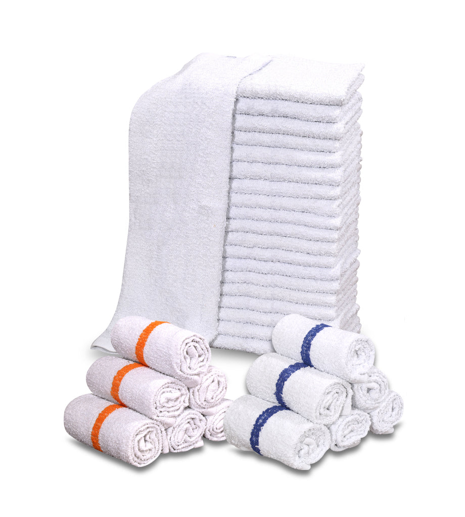 "12 New 100% Cotton White 16""x19"" Restaurant Bar Mops Kitchen Towels ~ - Maz Tex Supply"