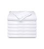 Image of 12 Pack - White Tone on Tone Fitted Sheets T-250  Hotel Quality - Maz Tex Supply