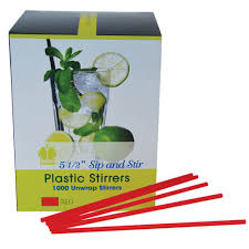 STIR STICK PLASTIC 10000/BOX