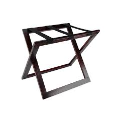 MODENA DRK MAHOGANY WOOD LUGGAGE RACK W/OUT BACK