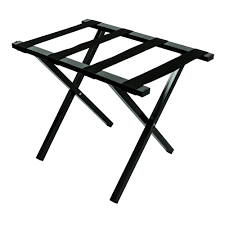 LUGGAGE RACK RECTANGULAR BLCK W/OUT BACK METAL