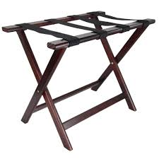 LUX WOOD FOLDING LUGGAGE RACK W/OUT BACK MAHOGANY