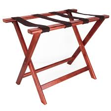 LUX WOOD FOLDING LUGGAGE RACK W/OUT BACK CHERRY