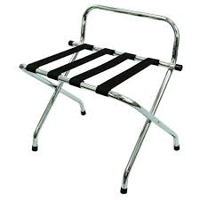 LUGGAGE RACK SS WITH BACK METAL