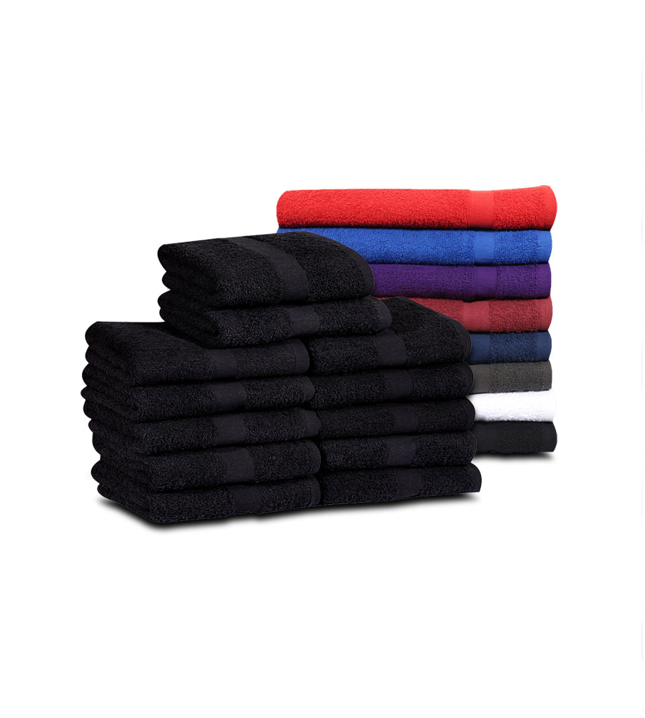 Salon Towels (120 Case Pack- 16x27 inches) -100% Rinspun Cotton 3 lb/dz - Maz Tex Supply