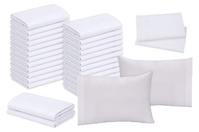 "Polycotton Standard Pillowcases (42""x36"" )White T-200 - 8 Dozen Case Pack = 1 Unit - Maz Tex Supply"