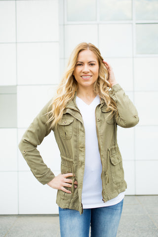Tencel Jacket - Olive