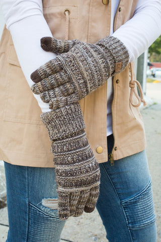 CC Touchscreen Gloves - Brown Variegated