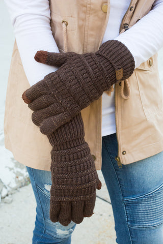 CC Touchscreen Gloves - Brown Metallic