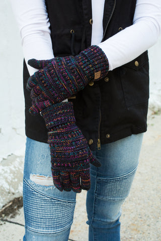 CC Touchscreen Gloves - Black Multicolored