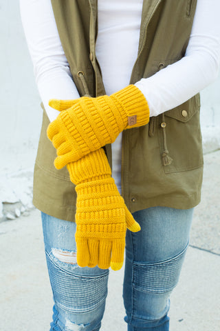 CC Touchscreen Gloves - Mustard