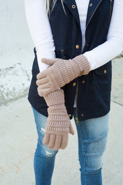 CC Touchscreen Gloves - Mocha