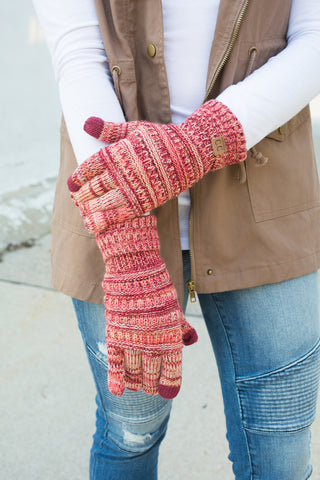 CC Touchscreen Gloves - Wine Variegated