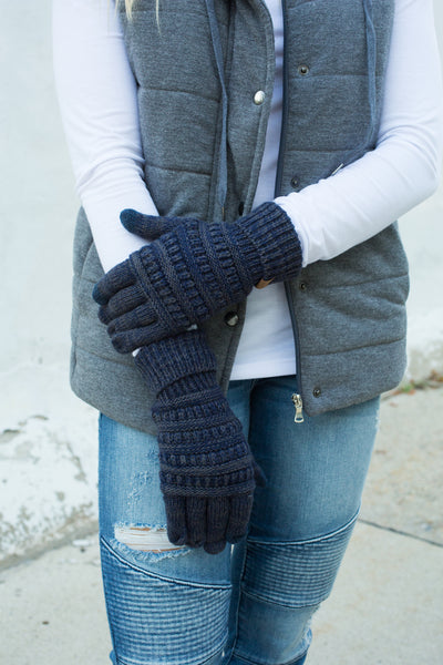 CC Touchscreen Gloves - Navy Variegated