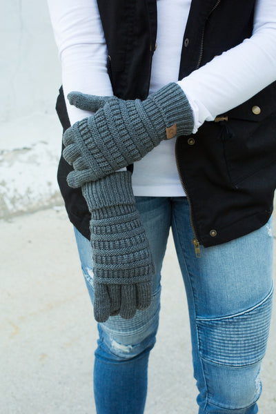 CC Touchscreen Gloves - Heather Grey Metallic