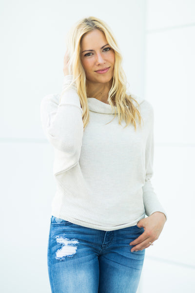 Waffle Knit Top - Ivory