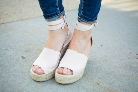 Maya Wedge Sandal - Blush