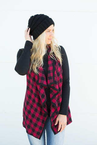 Buffalo Plaid Vest - S-3X