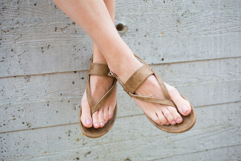 Brooklyn Buckle Sandal - Tan