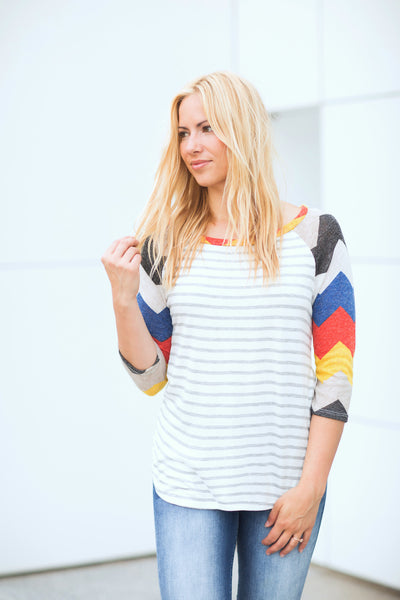 Chevron Colorblock Tunic