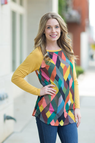 Geometric Front Tunic - 3 Colors