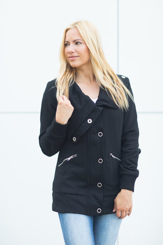 Button Coat - Black