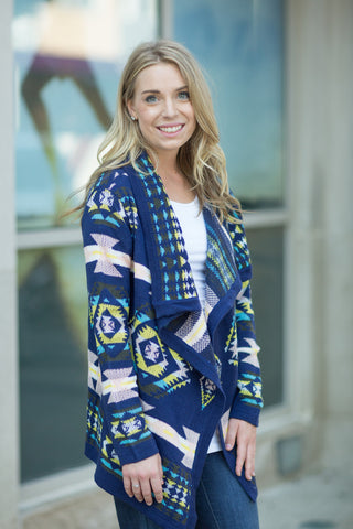 Flowing Aztec Cardigan