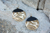 Two Tone Earring - Black