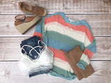 Colorblock Oversized Sweater