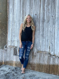 Tri-Blend Scoop Neck Tank - Charcoal