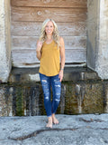 Tri-Blend Scoop Neck Tank - Mustard