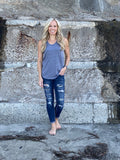 Tri-Blend Scoop Neck Tank - Heather Grey