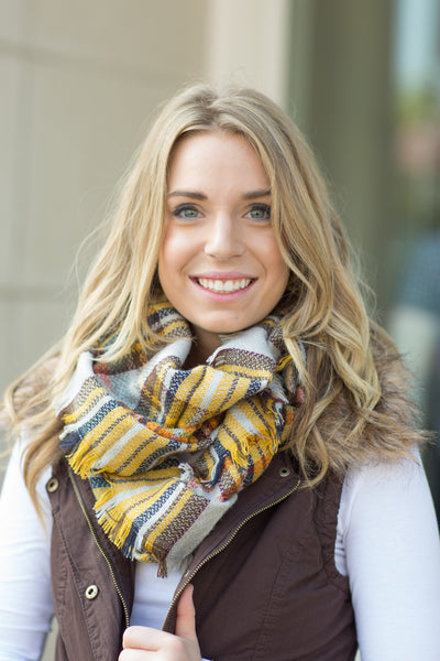 Plaid Infinity Scarf - 7 Colors