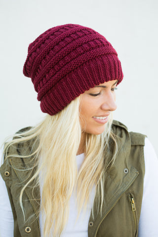Slouch Beanie - Wine