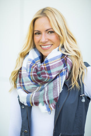 Blanket Scarf - Blue