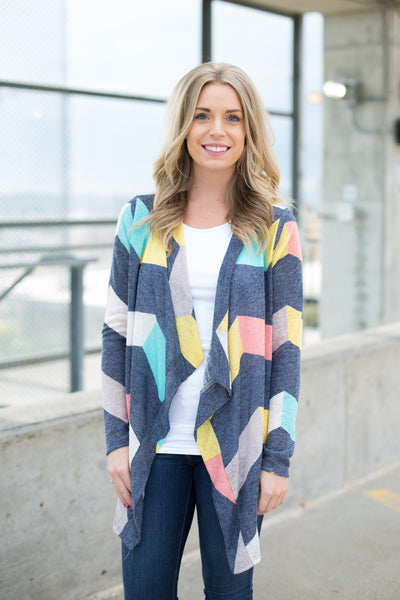 Chevron Striped Cardigan