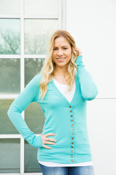 Snap Cardigan - Mint