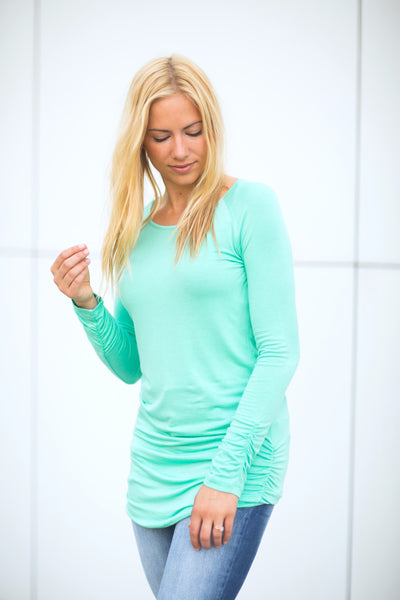 Mint Ruched Side Tunic