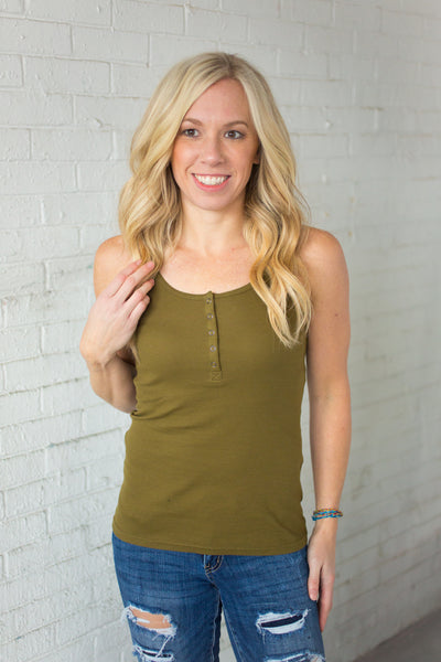 Snap Tank - Olive