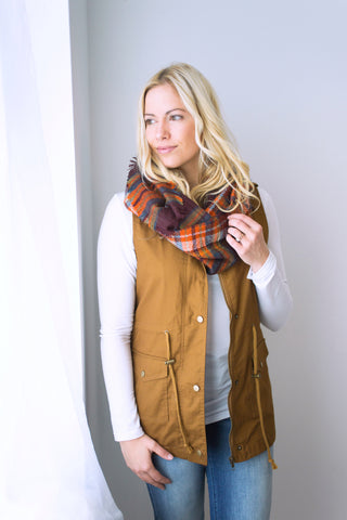 Longer Length Vest - Coffee