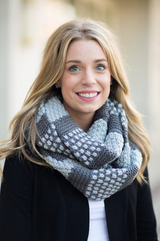 Two Tone Infinity Scarf - 4 Colors