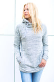 Variegated Hoodie - Heather Grey