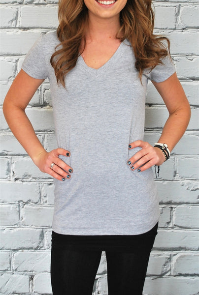 Extra Long V-Necks Tees - 25 colors