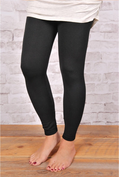 Fleece Lined Leggings - 4 Colors