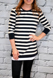 Striped Tunic - S-XL - 2 Colors