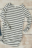 Striped Ruched Side Tunic
